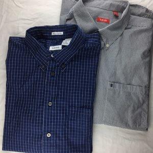 Lot of 2 Izod Men's Button down shirts XL